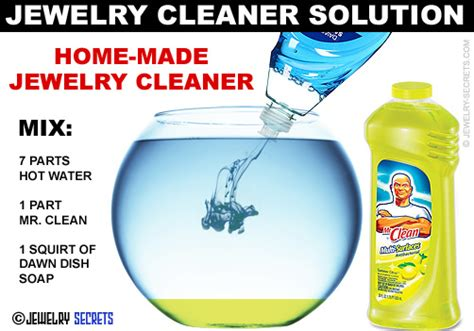 how do you make jewelry cleaner jewellery cleaning solution