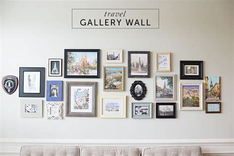 gallery wall designer travel gallery wall on