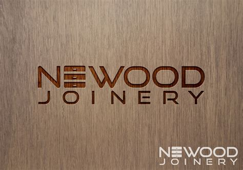woodwork company modern upmarket logo design for newood joinery by rm