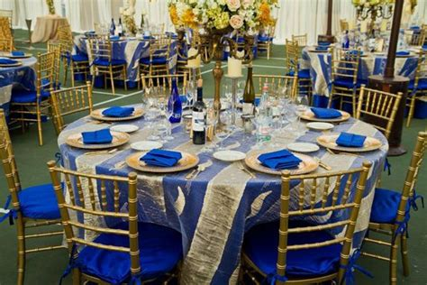 blue and gold decorations 17 best images about royal blue weddings on