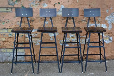 Custom Wood Bar Stools by Buy A Custom Reclaimed Wood Bar Stool Made To Order From