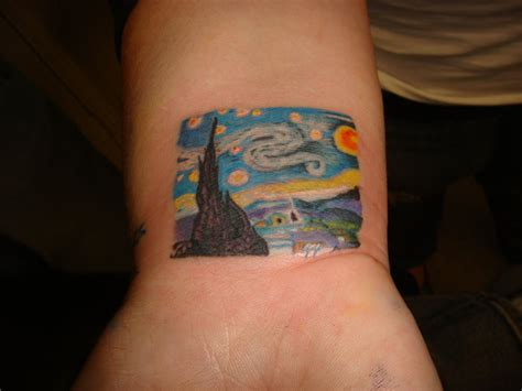 mini starry night tattoo by cxsr9 on deviantart