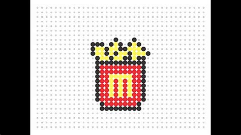 hama food hama bead fries food series 2
