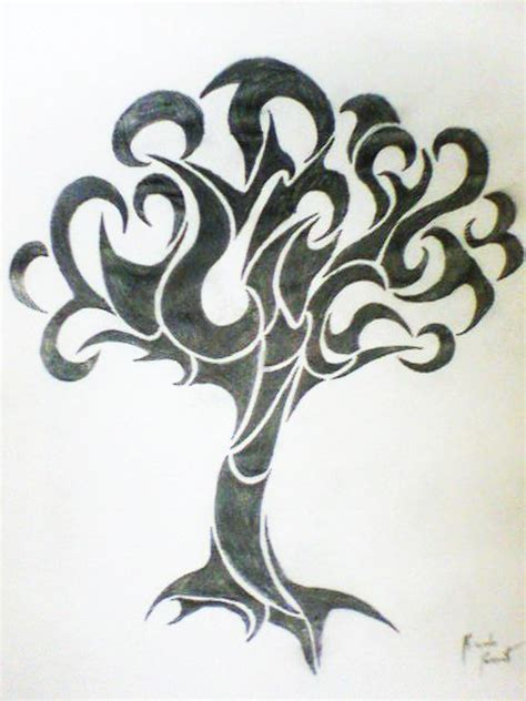tribal tree by songue on deviantart