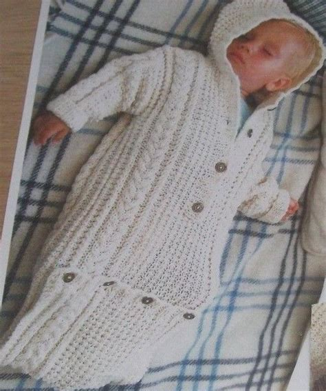 knitted all in one baby suit aran knitting pattern for baby sleeping bag all in one