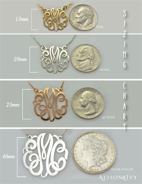 jewelry guide our alison monogram sizing chart monogram