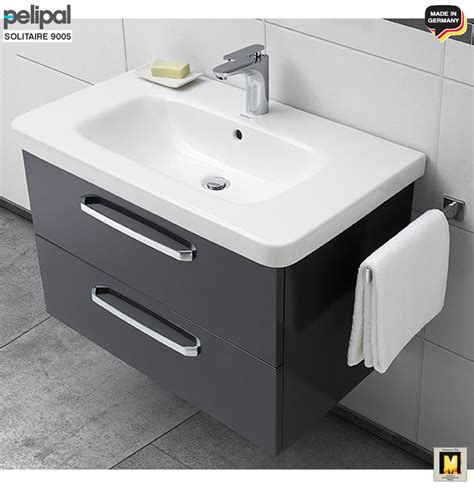 Badmöbel Set Hiendl by Pelipal Solitaire 9005 Waschtisch Set 80 Cm Mit Duravit