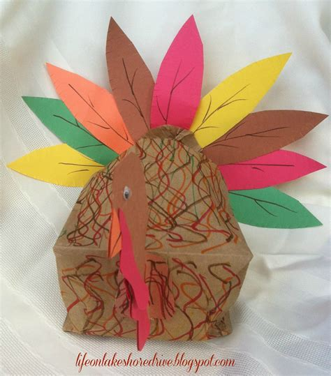 paper bags crafts paper bag turkey craft ye craft ideas