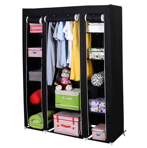 clothes rack with shelves portable closet storage organizer wardrobe clothes rack