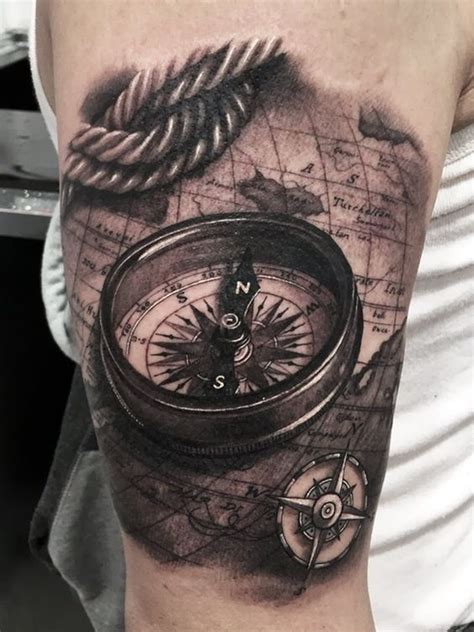 23 great compass tattoo ideas for men styleoholic