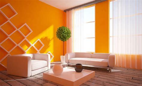 orange walls 3d interior rustic wood floors and orange walls