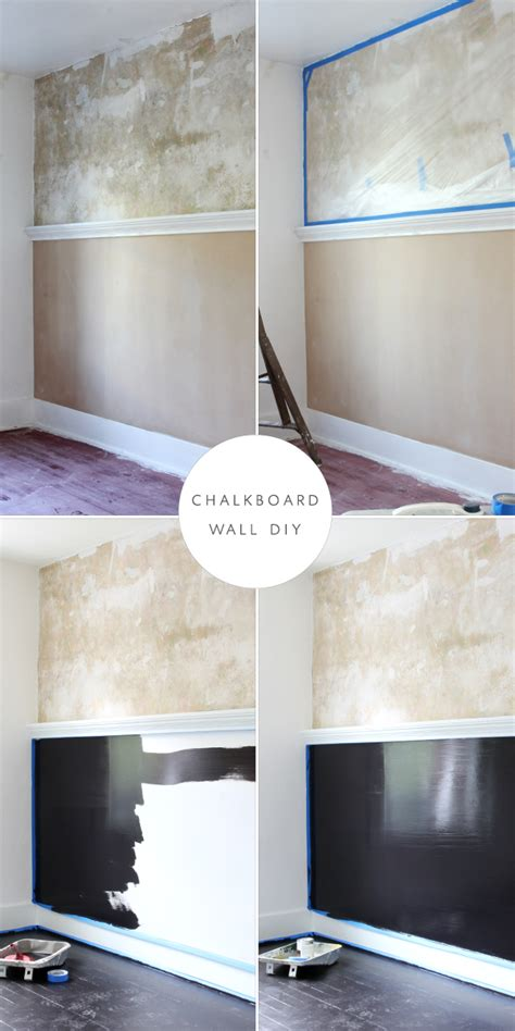 diy chalk paint with drywall compound diy preserving plaster and a chalkboard wall coco