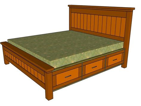 king size bed frame plans king size bed frame with storage drawers plans storage