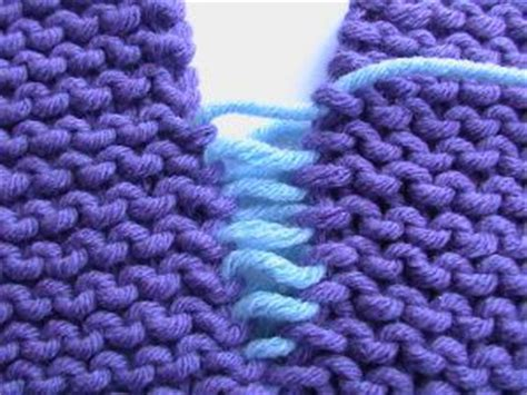 seaming knitting invisible seaming on stockinette stitch and on garter