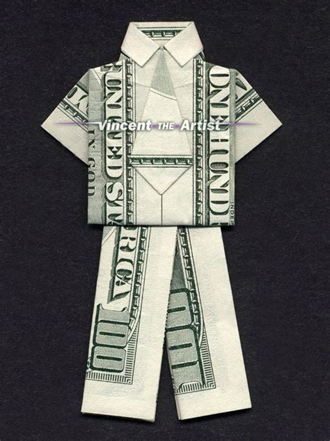 hundred dollar bill origami business suit money origami clothes made of real dollar bill