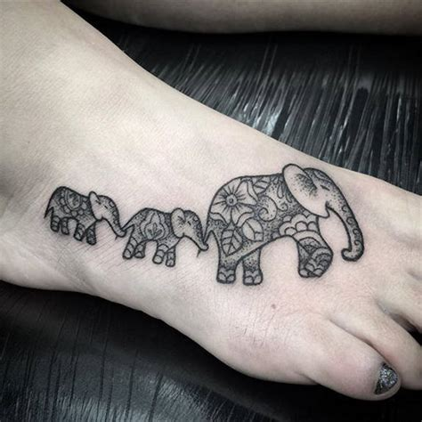tiny dotwork elephant tattoo by lu loram martin