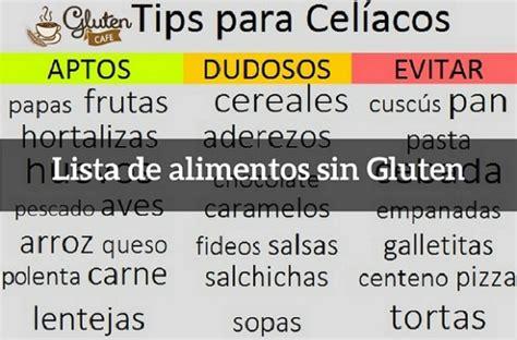 lista alimentos sin lactosa lista de alimentos sin gluten para vivir mejor gluten cafe