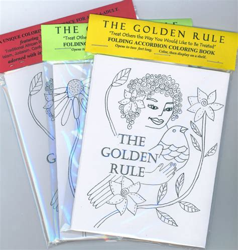the golden rule picture book items similar to interfaith golden rule accordion coloring