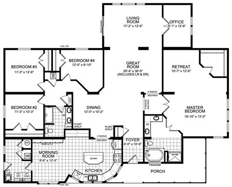 housing floor plans layout modular home floor plans 4 bedrooms modular housing