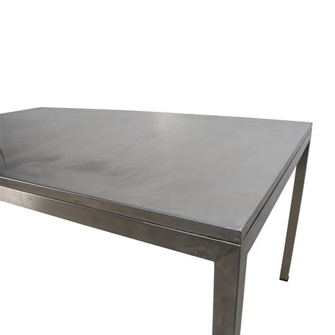 Stainless Steel Dining Room Tables 56 Room And Board Room Board Portica Stainless Steel Dining Table Tables