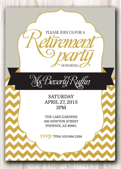 free printable free printable retirement invitations theruntime