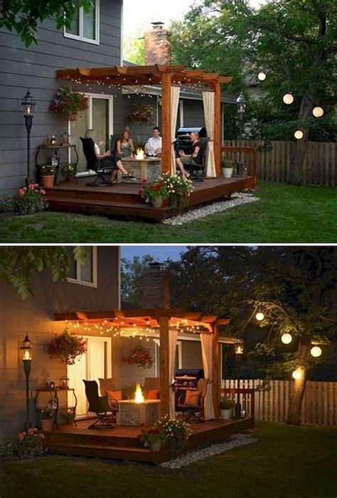 lights for backyard best 25 backyard deck designs ideas on decks