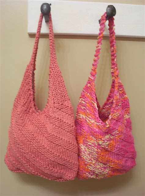 knit bag pattern hippie cotton shoulder bag knitting pattern by