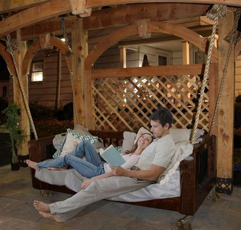 swinging bed frame timber and wood western timber frame