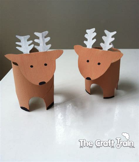 reindeer paper craft toilet roll reindeer