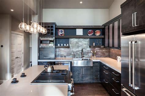 rustic black kitchen cabinets kitchen design ideas modern magazin