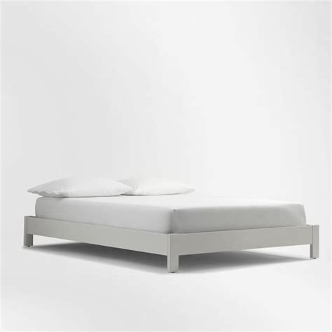 simple white bed frame simple low bed frame white west elm