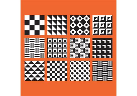 easy designs simple b w patterns free vector stock