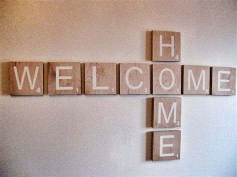 scrabble sign scrabble wall welcome sign welcome home large by