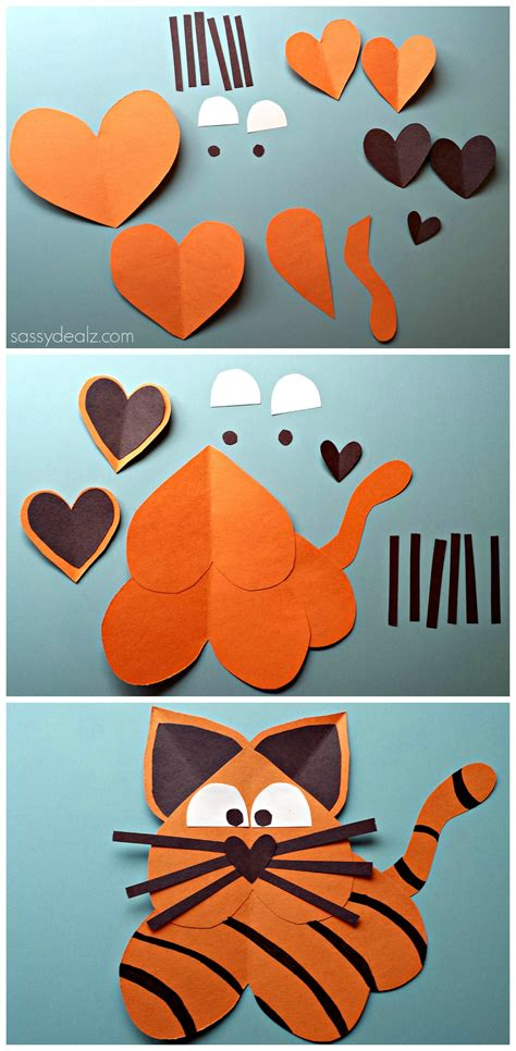 tiger crafts for list of easy s day crafts for crafty morning