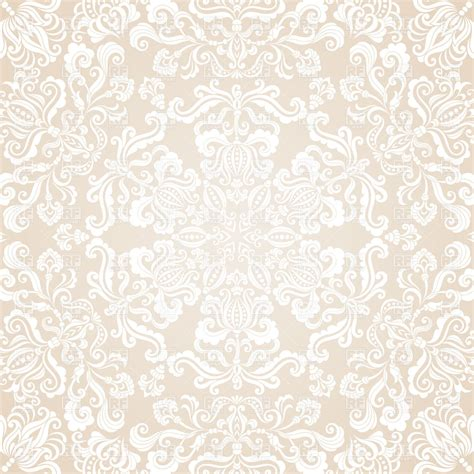 ornament background white caleidoscopic floral ornament vector clipart image