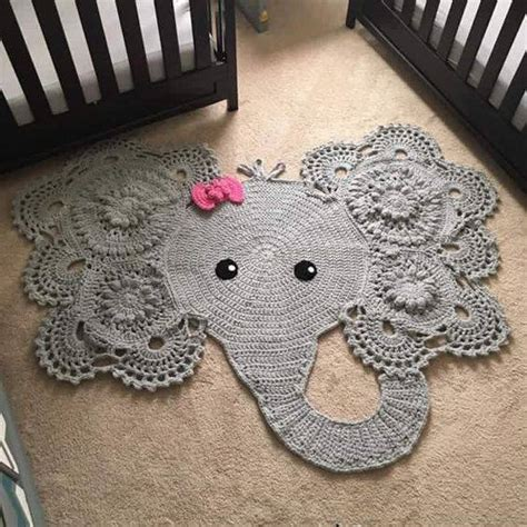 elephant bathroom rug crochet elephant rug home design garden architecture