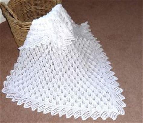 baby knitted shawl beautiful baby shawl blanket knitted lace pattern ebay