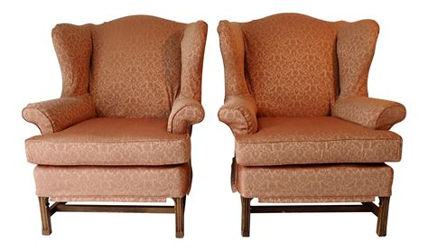 wingback sofa slipcover slipcover wingback chairs a pair chairish