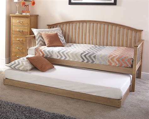 curved bed frame curved wooden trundle day bed frame oak one stop
