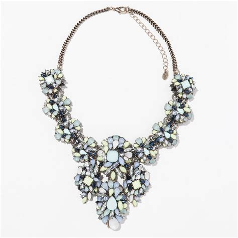big for jewelry big brand jewelry choker resin blue flower necklace 2014