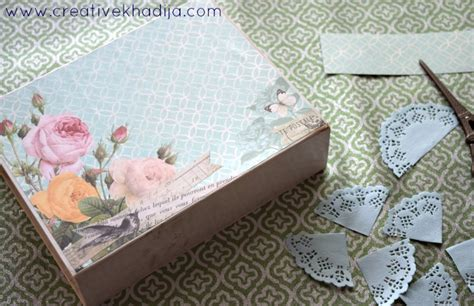 how to decoupage with scrapbook paper how to decoupage box with scrapbook paper