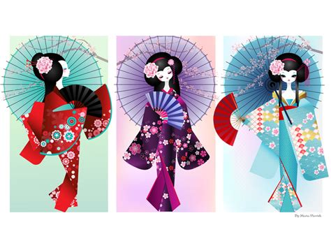 origami geisha origami dolls print by minercia on deviantart we