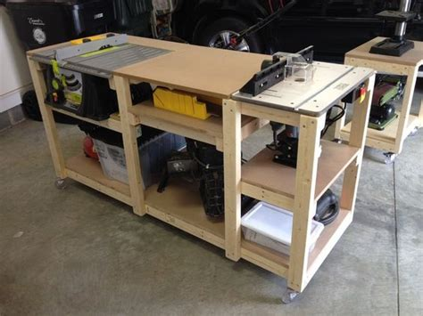 community woodworking shop budget mobile workstation by miketw lumberjocks