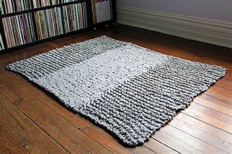 how to knit a rug bulky knit rug pattern free knitting pattern