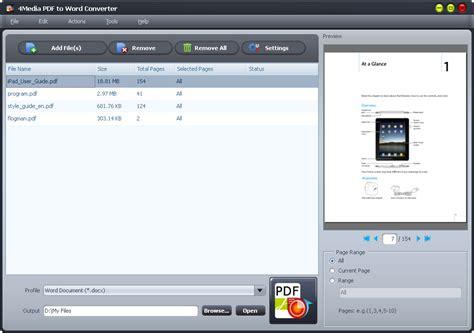 pdf converter 4media pdf to word converter screenshot x 64 bit