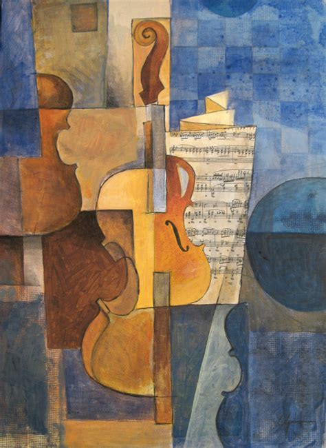 picasso paintings violin violin sonf cubist painting by emanuel ologeano m e