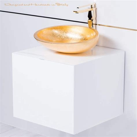 20 inch white bathroom vanity 20 inch white lacquer bathroom vanity with gold vessel