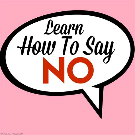 how to say how to say no natalie fitness