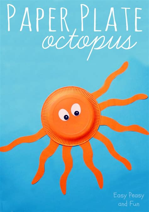 Octopus Paper Plate Craft Easy Peasy And