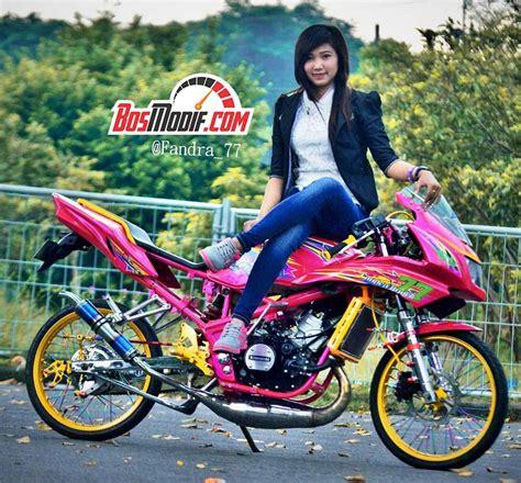Modifikasi Motor Instagram by Modifikasi Motor Kawasaki Dan Cewek Keren Naik